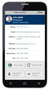 vCard Global Business Card screenshot 1