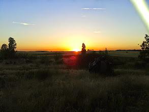 Photo: Coucher de soleil sur la Meseta