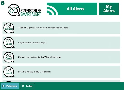Staffordshire Smart Alert- screenshot thumbnail
