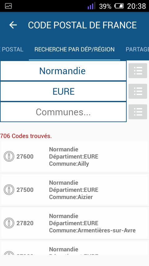 Code postal france android apps on google play for Code postal maureilhan