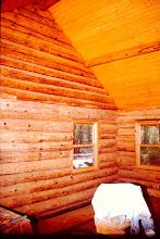 Photo: Cabin interior staining.