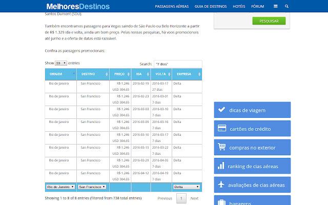 Melhores Filtros para MelhoresDestinos.com.br