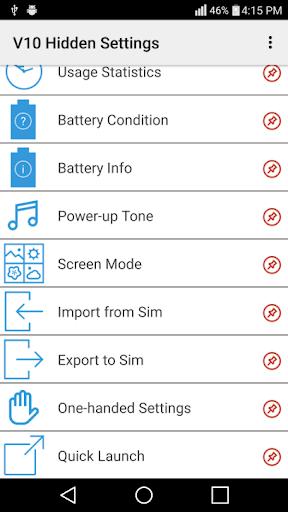 LG V10 Hidden Settings No Root 1.0 screenshots 2