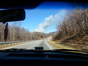 Photo: Nelson county Lovingston brush fire