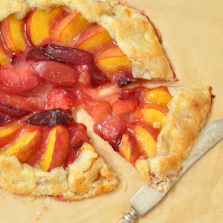 Peach and Plum Galette