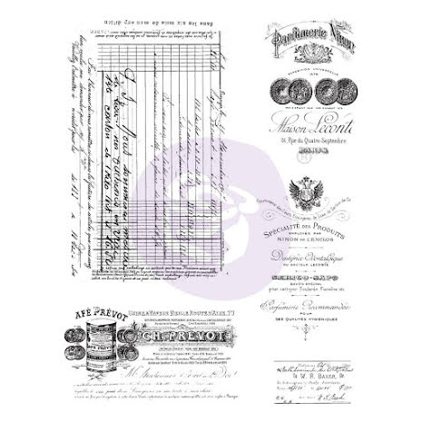 Prima Finnabair Cling Stamps 6X7.5 - Old Paper Work