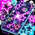 Neon multi color live wallpaper icon