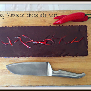 Spicy Mexican chocolate tart.