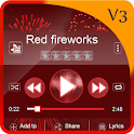 Red fireworks PlayerPro icon