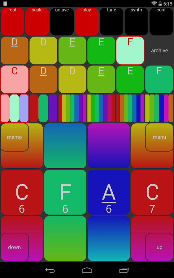 MISUCO2 microtonal sound controller + mobile synth- screenshot