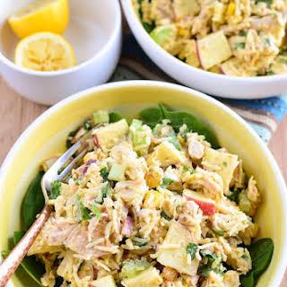 Curried Chicken Rice Salad Bowl.