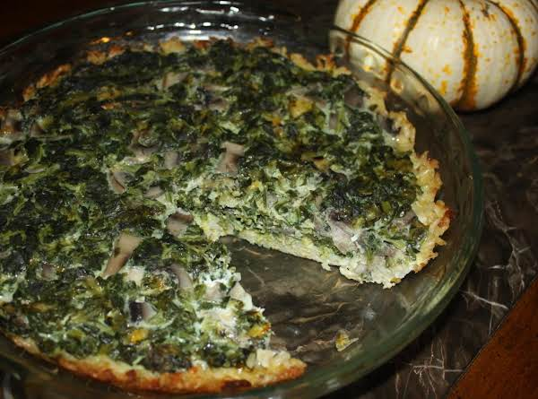 Wild Rice And Spinach Quiche Recipe