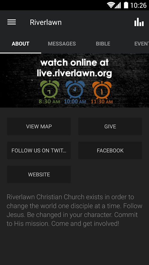 Riverlawn Christian Church- screenshot