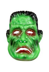 Barnmask Frankenstein, grön