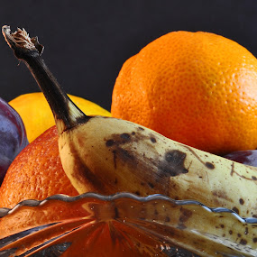by Danielle Calkins - Food & Drink Fruits & Vegetables ( orange, fruit, fruit bowl, fruit basket, plum,  )