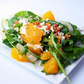 Spinach and Arugula Salad with Orange Vinaigrette