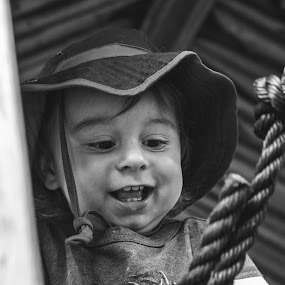 Smile Wide by Mikahla Dorey - Babies & Children Children Candids ( playing, rope, children, candid, smile )