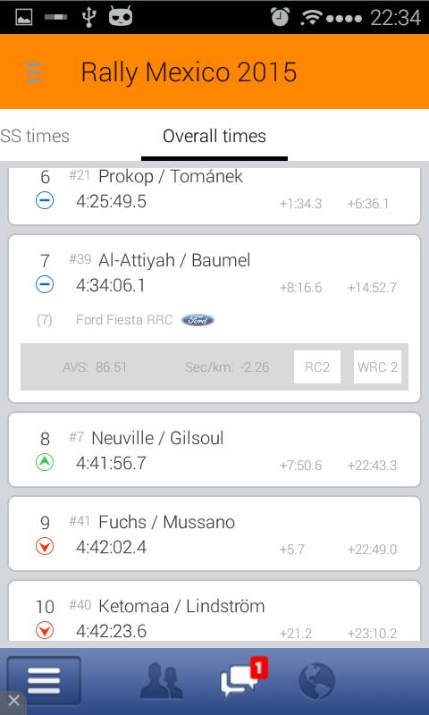 NetRally Results - screenshot