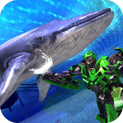 Robot X Vs Blue Whale Attack