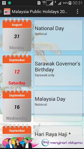 malaysia public holidays 2020 / 2021 screenshot 1