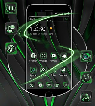 download cool black green theme apk latest version app for android