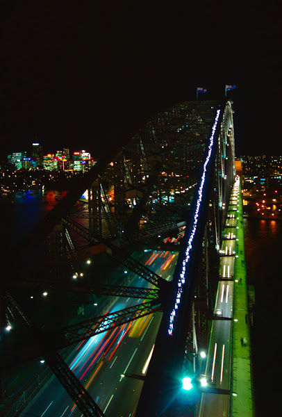Photo: The Sydney Harbour Bridge lights up for Vivid!