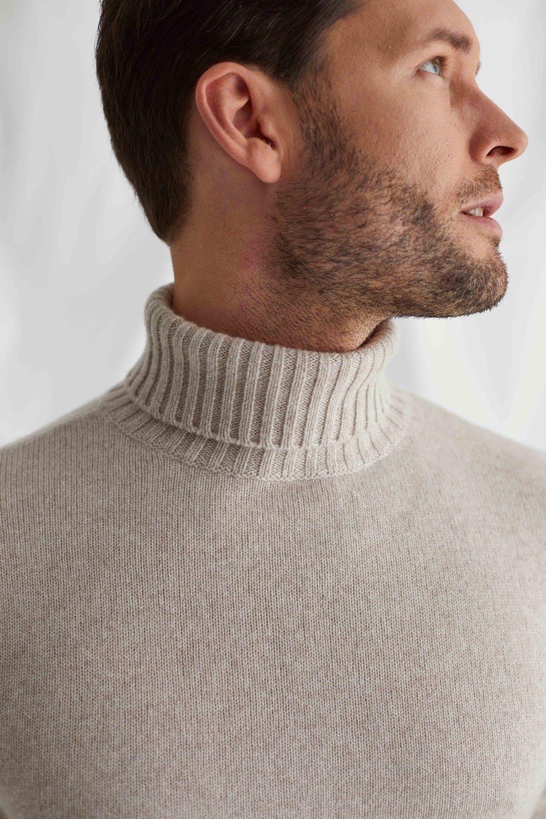 Man Chunky Roll Neck Sweater