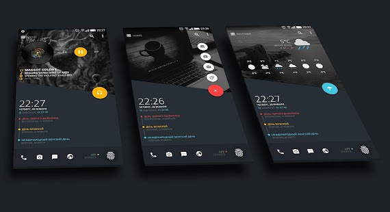 material theme for klwp apprecs
