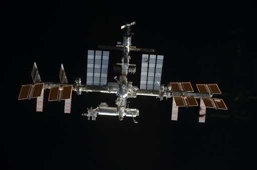 ISS during STS-135 Approach