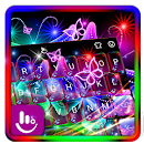 Colorful Neon Butterfly Keyboard Theme file APK Free for PC, smart TV Download