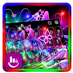 Colorful Neon Butterfly Keyboard Theme Icon