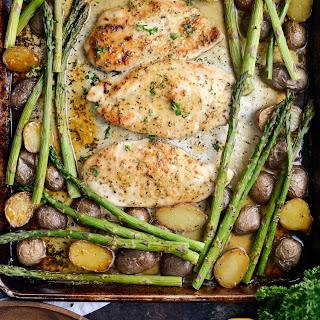 Honey Dijon Chicken Sheet Pan Dinner Recipe