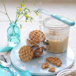 3 Ingredients Flourless Peanut Butter Cookies.