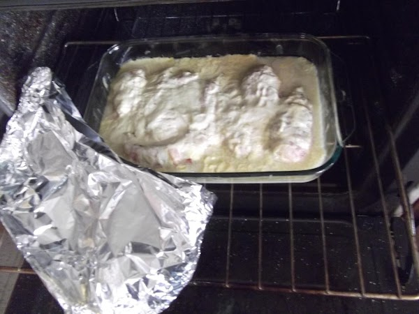 Cover with foil, and bake at 225 for four hours!