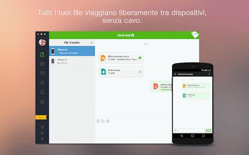 AirDroid: Android sul computer - screenshot thumbnail
