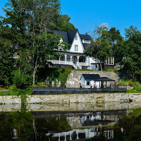 BIG HOUSE by Marc-Andre Grenier - Buildings & Architecture Homes ( green, reflection, blue, house, water )