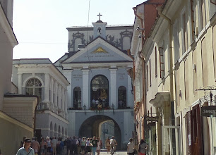 Photo: The Gates of Dawn is an early 16th century entrance to the old town.  Above it is a chapel of the Madonna of Mercy.