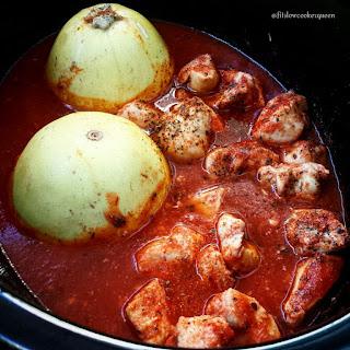 Slow Cooker Spaghetti Squash & Chicken.