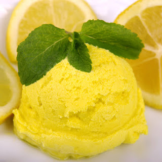 Ice Cream Maker Easy Lemon Sorbet.