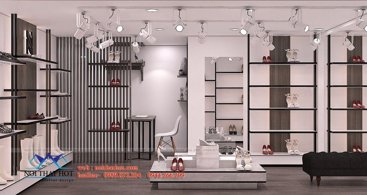 thiết kế shop giày dép thời trang ha huyen 7