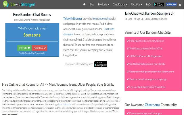 Website random chat Start Omegle