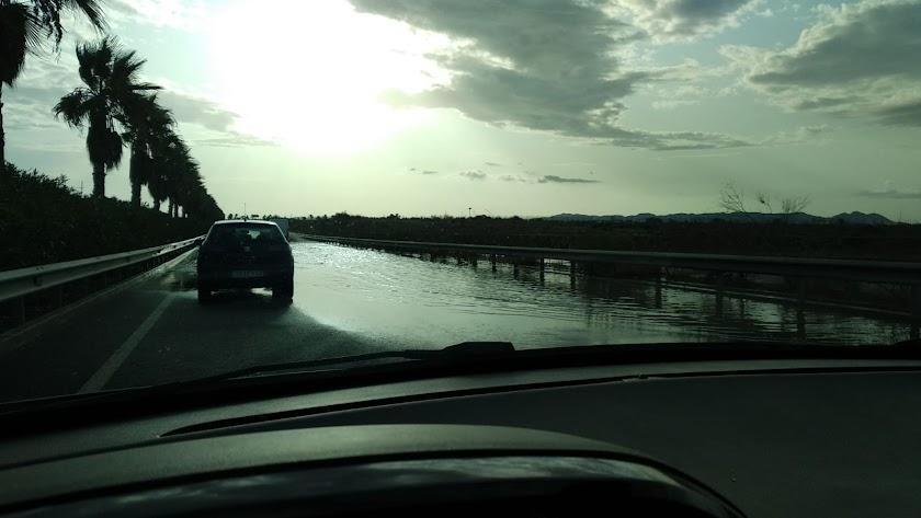Carretera N-344 en dirección de El Toyo