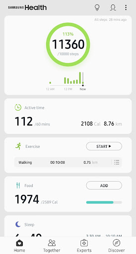 Samsung Health 6.3.0.027 screenshots 1