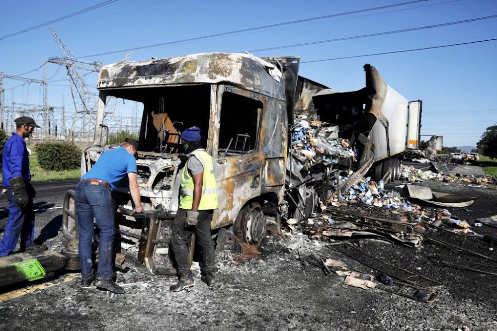 Trucks torched on second day of protest against foreign drivers - TimesLIVE