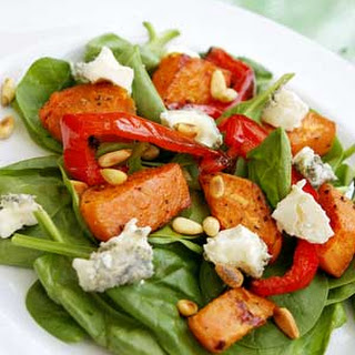 Roasted Sweet Potato Salad With Blue Cheese