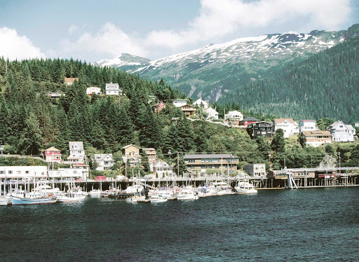 Ketchikan-Shoreline-Marina.jpg - See the marina of Ketchikan, Alaska, and its scenic surroundings on an American Cruise Lines sailing.