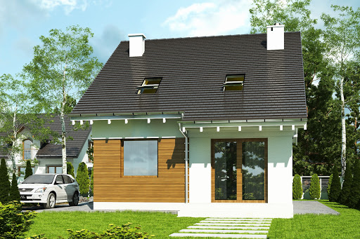 projekt Głuszec bez garażu B