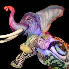 Carnevale di Viareggio by Simona Susino - Illustration Animals ( #carnevaleviareggio #italia,  )