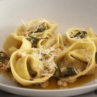 Ricotta and Olive Tortellini with Rosemary Butter Sauce.