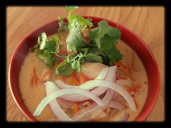 Chicken Coconut Curry Noodle Bowl Recipe